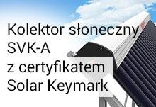 Kolektor słoneczny SVK-A z certyfikatem Solar Keymark