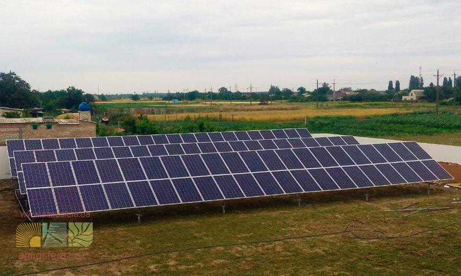 SPP o mocy 30 kW dla taryfy gwarantowanej, Lazurne, region Chersoniu